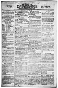 Real Times front page from 1794.