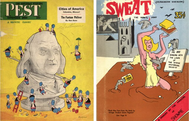 Covers of the Missouri Showme's Post and Sweat parodies.