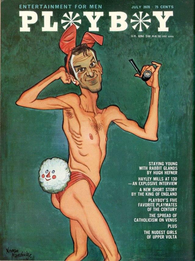 Hugh Hefner on Punch's 1966 Playboy cover