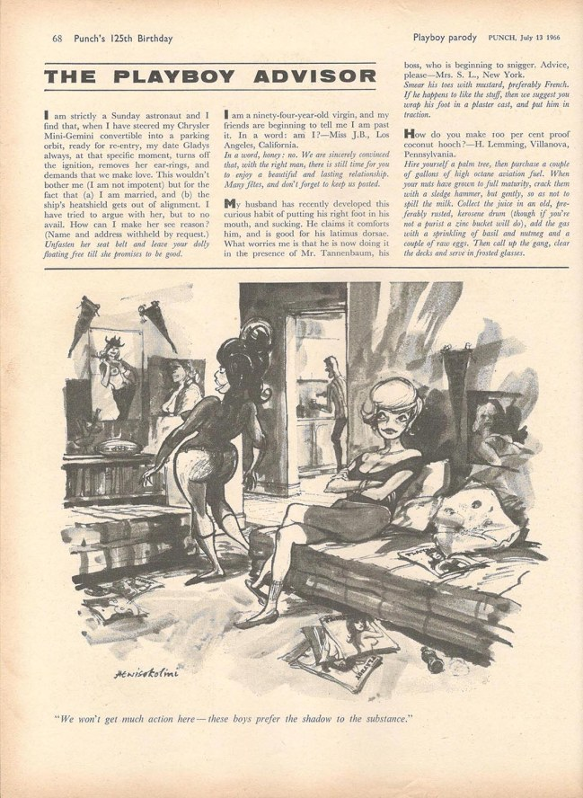 Page 2 of Punch's 1966 Playboy parody
