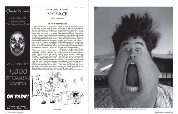 """""""My Face,"""" from Dartmouth's 2006 New Yorker parody"""