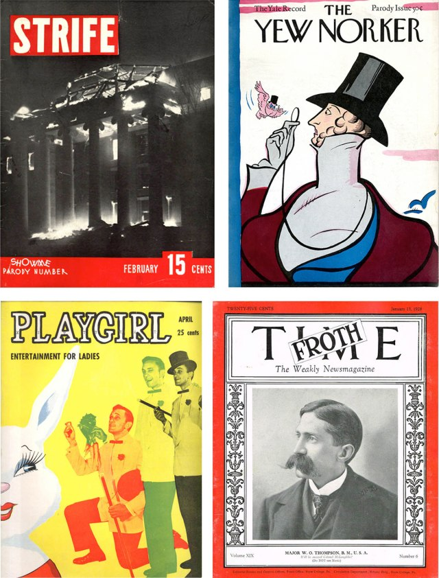 Parodies of Life, The New Yorker, Playboy and Time.