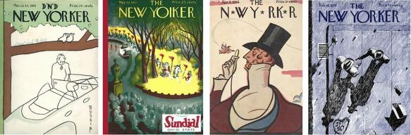 Four New Yorker parodies.