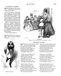 A page from a real 1896 Life.
