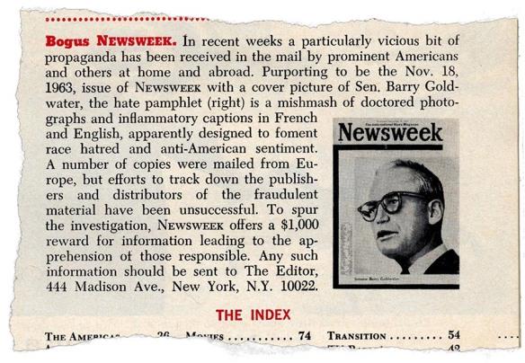 Newsweek's story on the parody