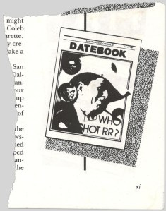 Cover of 1981 Datebook parody.