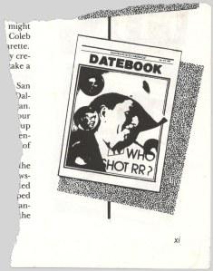 Cover of 1981 Datebook parody.