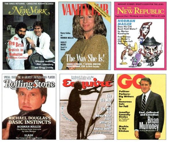 Six fake covers for Spy's parodies