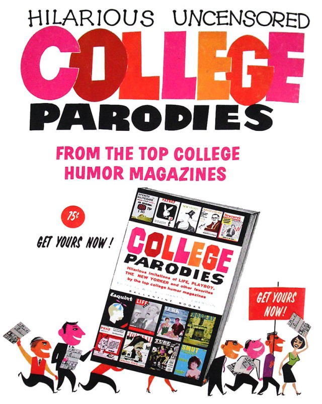 Ad for College Parodies