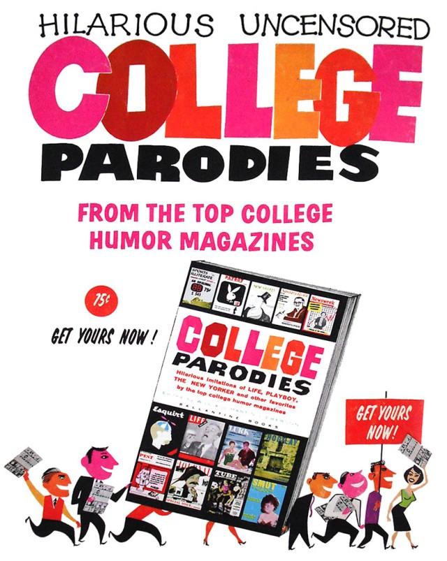 Ad for College Parodies