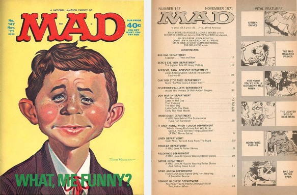 Mad parody cover and contents page