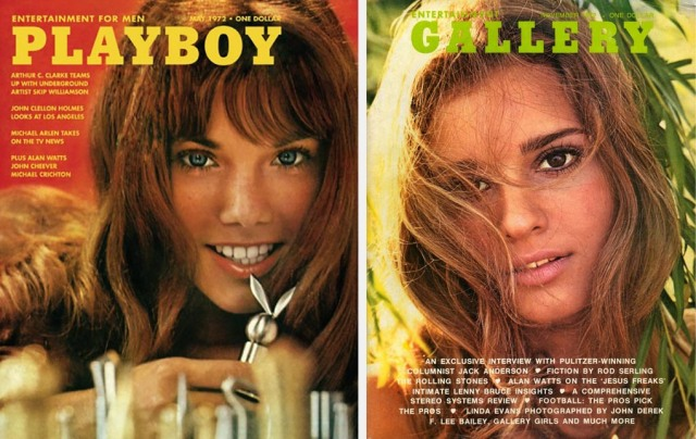 Playboy and Gallery covers