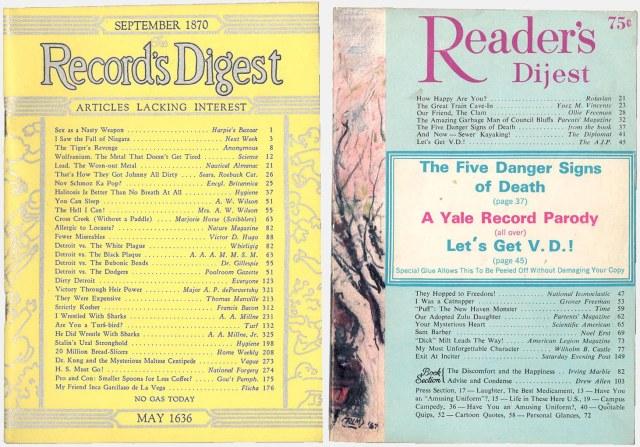 1943 and 1967 Reader's Digest parodies