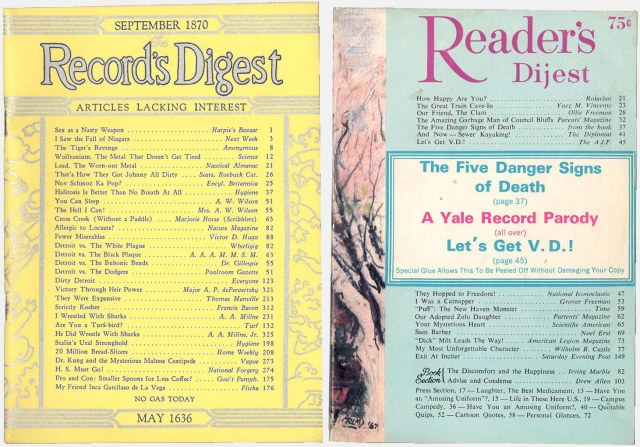 1943 and 1967 Reader's Digest parodies