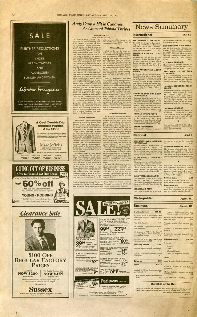 Spy's 1992 Times parody page 2