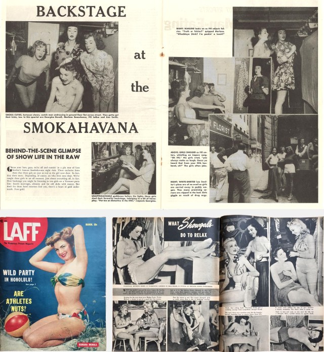 Pages from Smut and Laff magazines