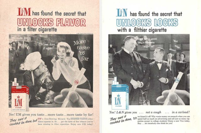 Chaparral's real and fake L&M ads