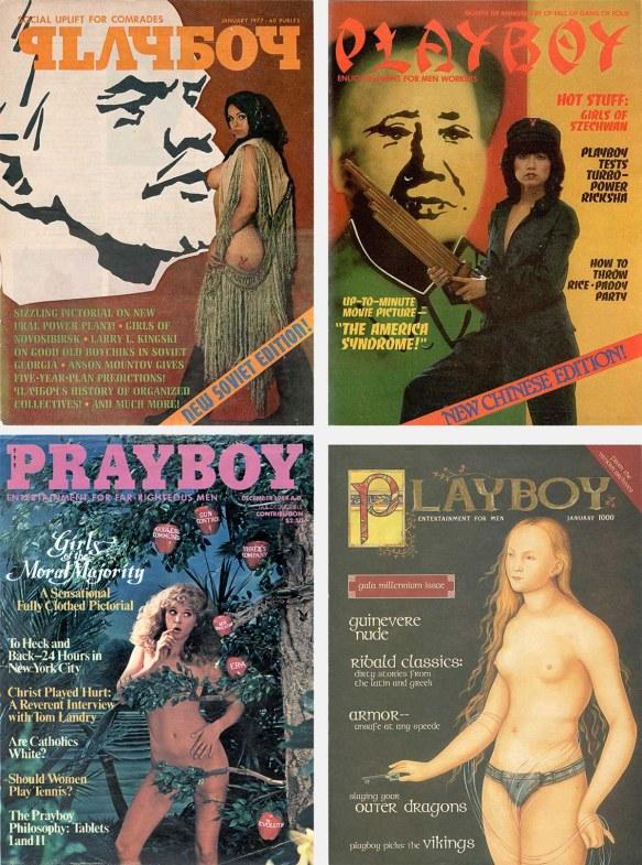 Four Playboy self-parodies