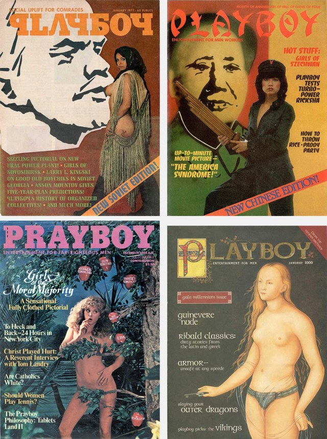 Four Playboy self-parodies