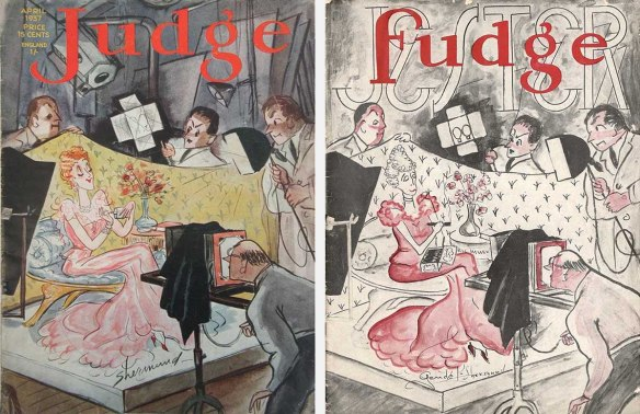 A real 1937 Judge cover and Jester's copy