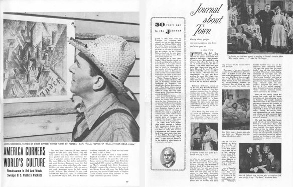 Two pages from Liff and Laddies' Home Journal