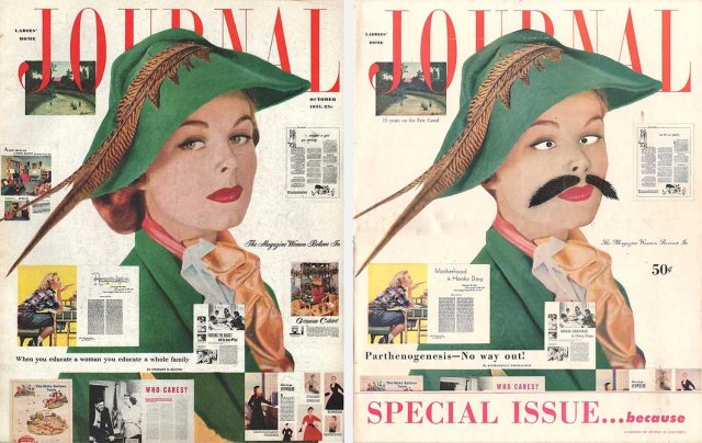 Real and fake Journal covers from 1951 and '52