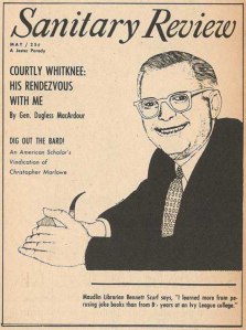 """1956 """"Sanitary Review"""" cover"""