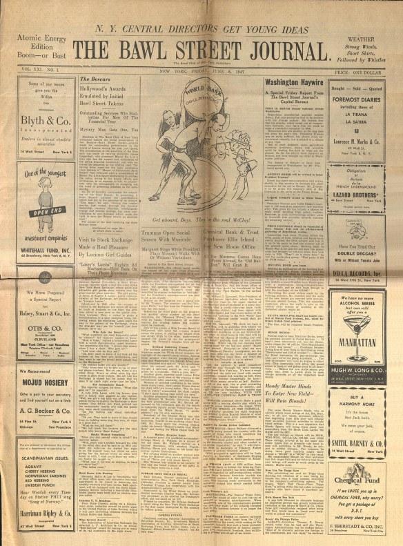 1947 Bawl Street Journal
