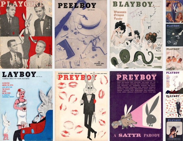 Covers of 6 Playboy parodies