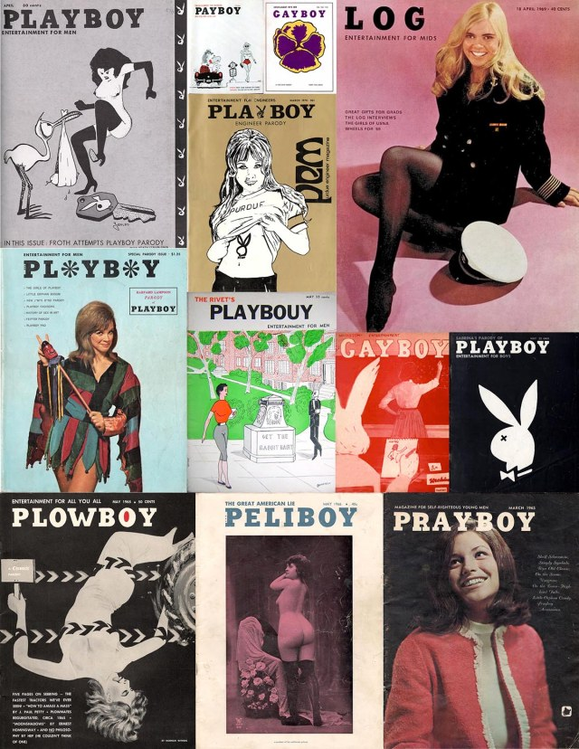 Twelve collegiate Playboy parodies.