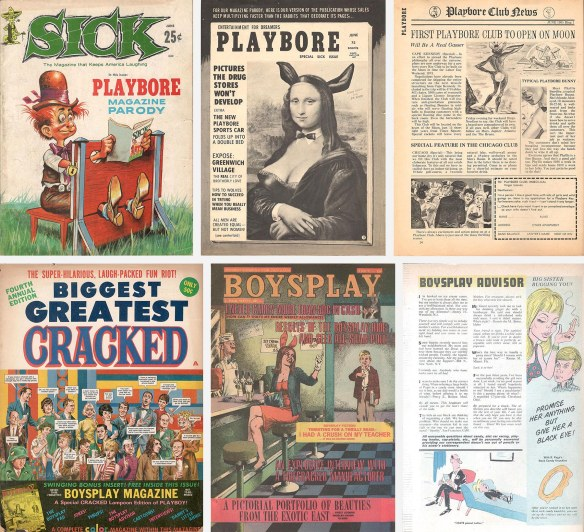 Pages from parodies in Sick and Cracked