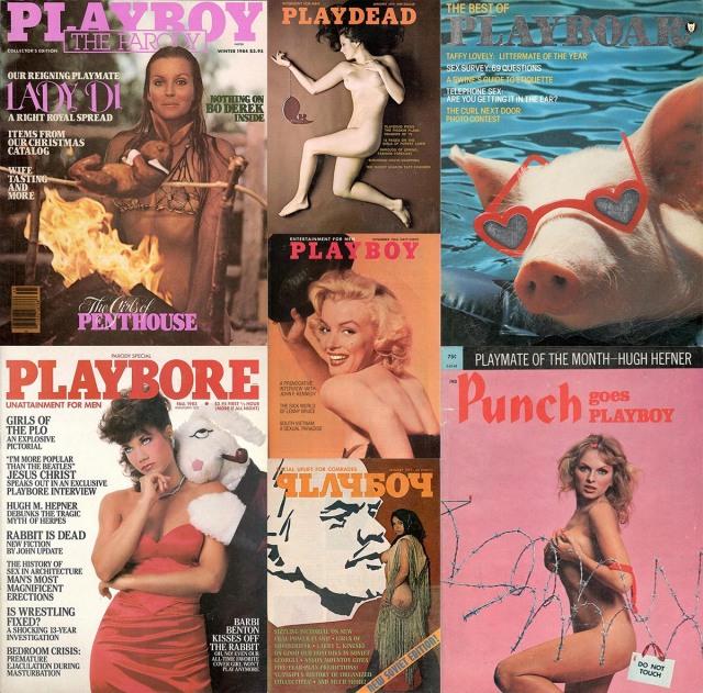 Seven Playboy parody covers