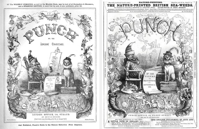 Real Punch covers from the 1840s