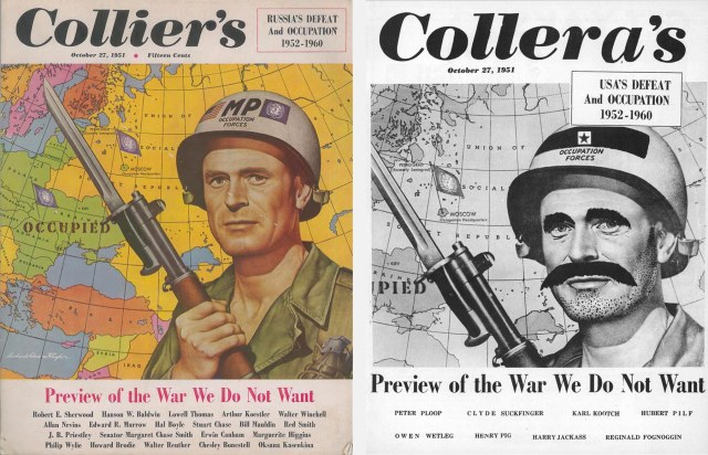 Collier's cover and Shaft's parody
