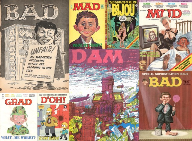 Covers of 8 Mad parodies