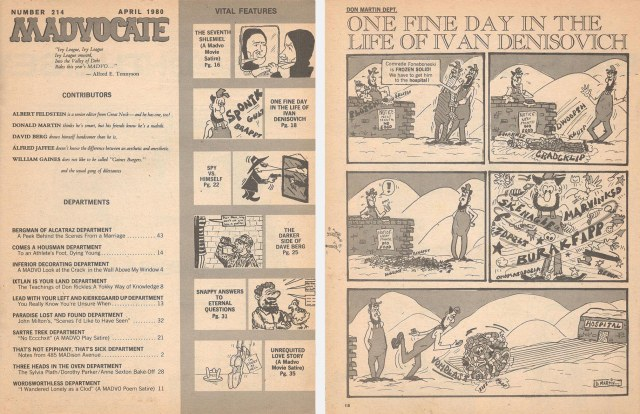 Two pages of the Lampoon's Madvocate
