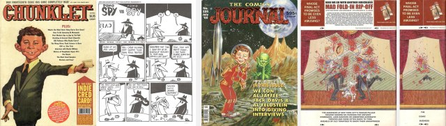 Pages from Chunklet and Comics Journal