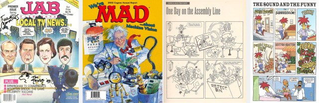 Mad parodies by Jab, Cognex and Simpsons Comics
