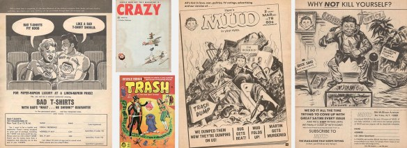 Pages from Crazy and Trash magazines.