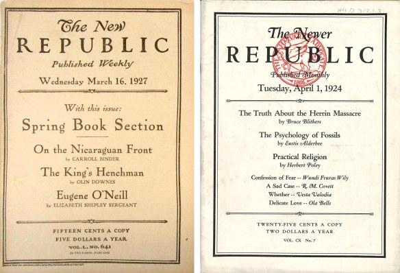 New Republic and Advocate Parody