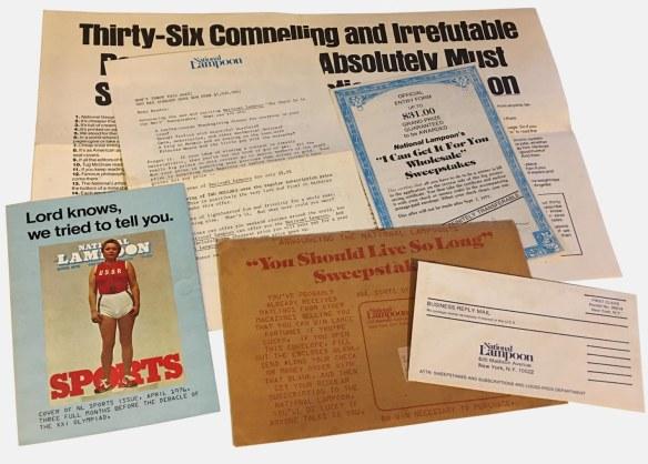 National Lampoon subscription renewal packet