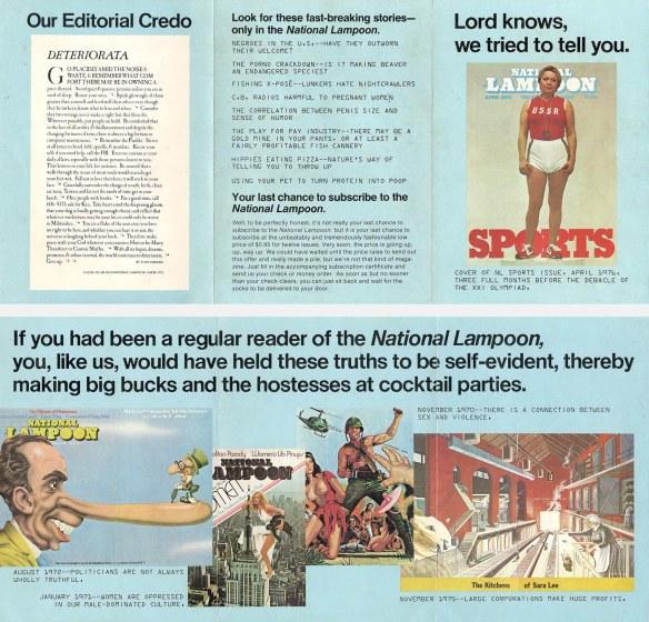 NL Sweepstakes brochure