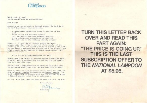 NL Sweepstakes letter