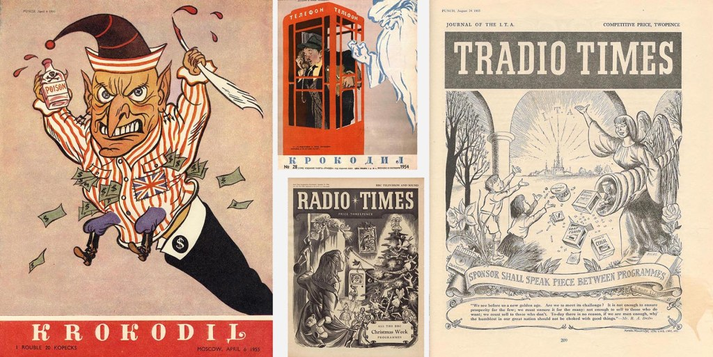 Punch's Krokodil and Radio Times parodies