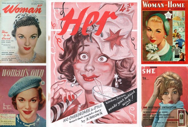 Her and four real women's magazines