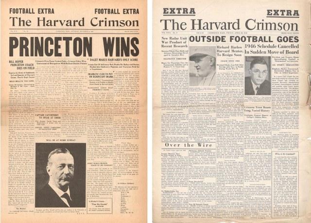 Crimson parodies from 1926 and 1946